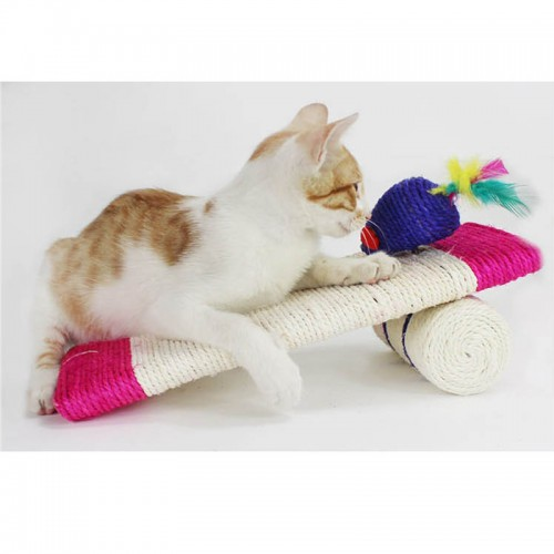 Cat Scratcher Toy With Mouse
