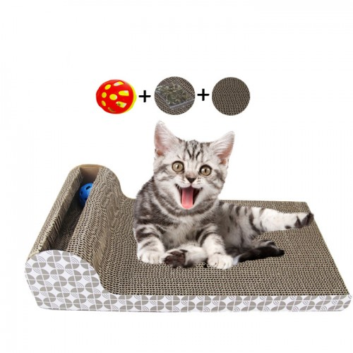 Scratch board sofa with ball toy Cat bed cushion Cats